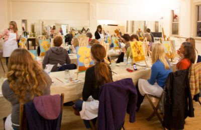 Art - Friends - Painting Party - KnoodleU - Drawing on History