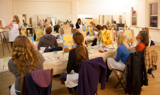 Wine and Painting - Adult Painting Class - Atascadero, CA - Studio 101 West - My Masterpiece - KnoodleU