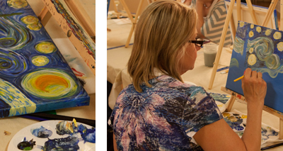 Art Party - Painting Class - Van Gogh - Drawing on History