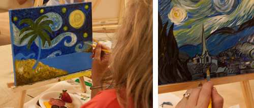 Painting Class for Adults, Painting Parties, Starry Night Painting Class
