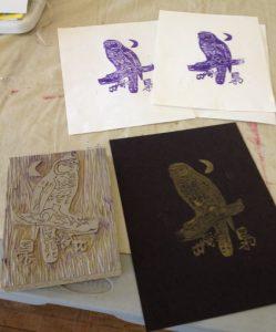 Homeschool Art Lessons - High School Art Curriculum - Linoleum Blocks - Drawing on History