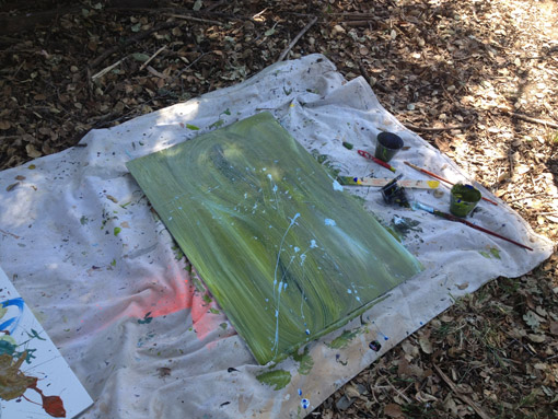 Action Painting - High School Art Curriculum - Drawing on History - Jackson Pollock