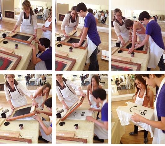 Drawing on History Class - High School Art Class - Atascadero, CA - KnoodleU - Silkscreen project