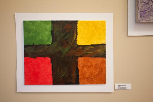 student art show - knoodleu - atascadero art classes - drawing on history - color field paiting - homeschool art curriculum