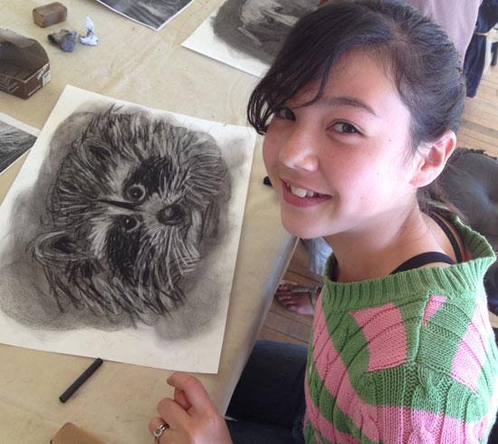 Charcoal art - Atascadero Art Classes - Drawing on History